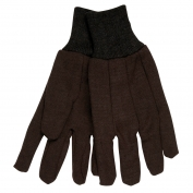 Memphis 7100  Jersey Gloves - Cotton/Polyester Blend - Knit Wrist - Brown