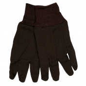 Memphis 7100C Clute Pattern Jersey Gloves - Heavy Weight Cotton/Polyester - Brown