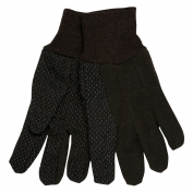 Memphis 7802 Ladies Jersey Gloves - Clute Pattern - Plastic Dotted Palm Side - Brown