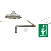 Flush to Ceiling Drench Shower with Pull Rod and AXION MSR Polished Stainless Steel Showerhead