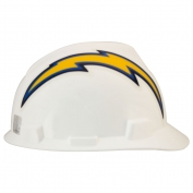 MSA 818408 V-Gard NFL Cap Style Hard Hat - Los Angeles Chargers