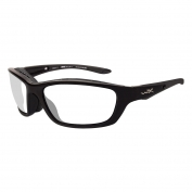 Wiley X Brick Safety Glasses - Gloss Black Frame - Clear Lens