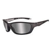 Wiley X Brick Sunglasses - Crystal Metallic Frame - Silver Flash Lens