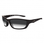 Wiley X Brick Sunglasses - Metallic Black Frame - Light Adjusting Grey Lens