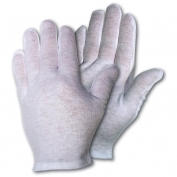 Memphis 8620C Inspectors Gloves - Medium Weight Knit Lisle Cotton - Hemmed