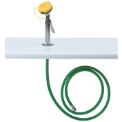 Counter-Mounted Eye-Face Wash with 8-Foot Green Hose