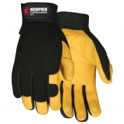 Memphis 901 Grain Deerskin Multi-Task Gloves - Spandex Back - Velcro Closure