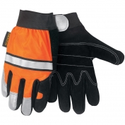Memphis 911DP Luminator Gloves - Synthetic Leather Palm - Hi-Viz Reflective Back