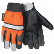 Memphis 921 Grain Cow Leather Palm Multi-Task Gloves - Reflective Stripes on Back and Fingertips