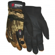 Memphis 924C Multi-Task Gloves - Camo with Synthetic Palm - Includes 2 LED Lights