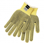 Memphis 9366 Cut Protection Gloves - 7 Gauge Dupont Kevlar - PVC Dots Both Sides