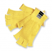 Memphis 9373 Fingerless String Knit Gloves - 7 Gauge Regular Weight Kevlar - Yellow