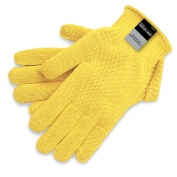 Memphis 9375 String Knit Gloves - 7 Gauge Heavy Weight Kevlar - Yellow