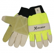 Memphis 940HV Xcavator Grain & Split Pig Double Palm Gloves - Sock Lined with Foam