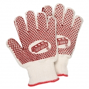 Memphis 9462K Ladies Red Brick 2-Ply Gloves - Heavy Loop-in Terry - 2-Sided Nitrile Blocks