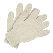 Memphis 9506 String Knit Gloves - 7 Gauge Heavy Weight Cotton/Polyester - Hemmed - Natural
