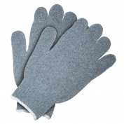Memphis 9507 String Knit Gloves - 7 Gauge Heavy Weight Cotton/Polyester - Gray
