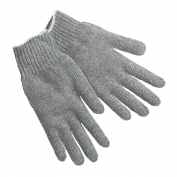 Memphis 9507LM String Knit Gloves - 7 Gauge Heavy Weight Cotton/Polyester - Gray