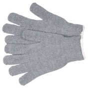 Memphis 9507LMH String Knit Gloves - 7 Gauge Cotton/Polyester - Gray