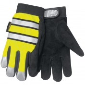 Memphis 958 Multi-Task Gloves - Split Deerskin Palm - Hi-Viz Reflective Back