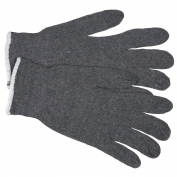 Memphis 9637 String Knit Gloves - 7 Gauge Cotton/Polyester - Gray