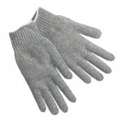 Memphis 9637LM String Knit Gloves - 7 Gauge Cotton/Polyester - Gray