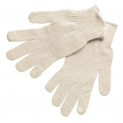 Memphis 9638 String Knit Gloves - 7 Gauge Economy Weight Cotton/Polyester - Natural