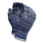 Memphis 9642 String Knit Gloves - 7 Gauge Economy Weight Cotton/Polyester - Blue/Gray