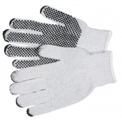 Memphis 9650M String Knit Gloves - 7 Gauge Cotton/Polyester - PVC Dots 1 Side