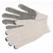 Memphis 9657 String Knit Gloves - 7 Gauge Cotton/Polyester - PVC Dots 1 Side