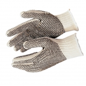 Memphis 9660 String Knit Gloves - 7 Gauge Cotton/Polyester - PVC Dots Both Sides