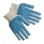 Memphis 9660MB String Knit Gloves - 7 Gauge Cotton/Polyester - Two-Sided PVC Blocks
