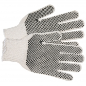 Memphis 9667LM String Knit Gloves - 7 Gauge Economy Weight Cotton/Polyester - PVC Dots 2 Sides
