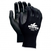 Memphis 9669 PU Coated Palm Gloves - 13 Gauge Nylon Shell - Black