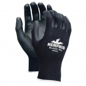 Memphis 96699 Economy PU Coated Gloves - 13 Gauge Polyester Shell - Black