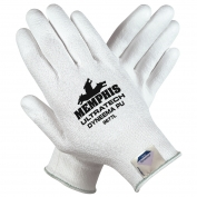 Memphis 9677 UltraTech PU Coated Palm Gloves - 13 Gauge Dyneema Blended Shell - White