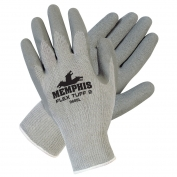 Memphis 9688 FlexTuff II Latex Coated Palm Gloves - 10 Gauge Cotton/Polyester - Gray