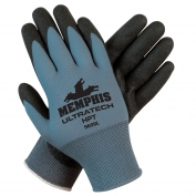 Memphis 9699 Gloves UltraTech HPT Coated Gloves - 15 Gauge Nylon Shell - Blue