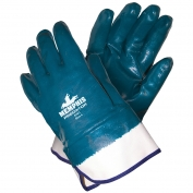Memphis 9761 Predator Fully Coated Nitrile Gloves - Safety Cuff - Large Size