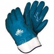 Memphis 9770 Predator Fully Coated Nitrile Gloves - Jersey & Foam Lined - Safety Cuff