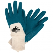Memphis 9780 Predalite Light Nitrile Coated Palm Gloves - Interlock Lining - Knit Wrist