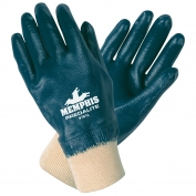 Memphis 9781 Predalite Fully Coated Nitrile Gloves - Knit Wrist - Interlock Liner