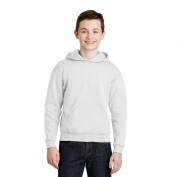 Jerzees 996Y Youth NuBlend Pullover Hooded Sweatshirt - White
