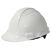 North A59 Peak Hard Hat - Plastic Suspension with Pinlock Adjustment - White
