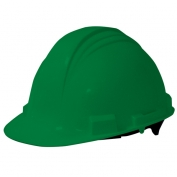 North A59 Peak Hard Hat - Plastic Suspension with Pinlock Adjustment - Green Hat