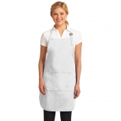 Port Authority A703 Easy Care Full-Length Apron with Stain Release - White