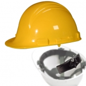 North A79R Peak Hard Hat - Nylon Suspension with Ratchet Adjustment - Yellow