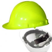North A79R Peak Hard Hat - Nylon Suspension with Ratchet Adjustment - Hi-Viz Yellow