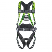 Miller AirCore Construction Harness with a Lumber Pad  Belt  Side D-Rings and Aluminum Hardware - G