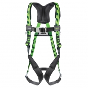 Miller AirCore Front D-Ring Harness Steel Hardware - Back D-Ring - QC Chest and Leg Strap - Green